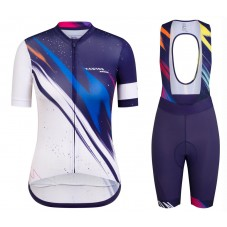 2020 Canyon Team Blue-White Women Cycling Jersey And Shorts Kit