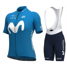 2020 Team Movistar Women Cycling Jersey And Shorts Kit