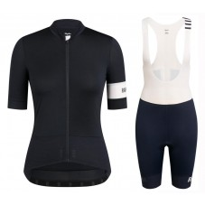 2020 Rapha Pro Team Women's Black-White Cycling Jersey And Shorts Kit