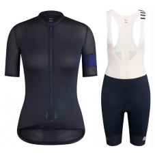 2020 Rapha Pro Team Women's Black-Blue Cycling Jersey And Shorts Kit