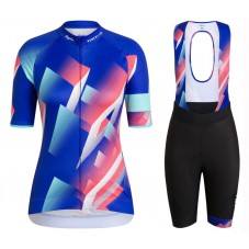 2020 Rapha Pro Team Women's Blue-Color Cycling Jersey And Shorts Kit