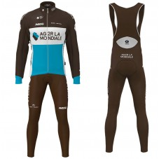 2020 Team AG2R Long Sleeve Cycling Jersey And Bib Pants Kit