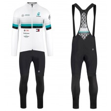 2020 Asos FF1 RS Benz White Long Sleeve Cycling Jersey And Bib Pants Kit