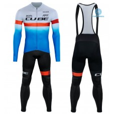2020 CUBE Blue Pro Team Thermal Cycling Jersey And Bib Pants Kit