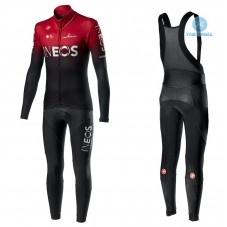 2020 INEOS Team Red Thermal Cycling Jersey And Bib Pants Kit