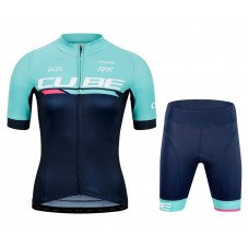 2020 Cube Team Pro Cycling Women Cycling Jersey And Shorts Kit