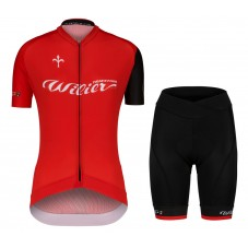 2020 Wilier Team Red Women Cycling Jersey And Shorts Kit