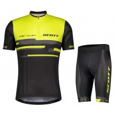 2021 SCOTT-RC Team 2.0 Yellow Cycling Jersey And Shorts Kit