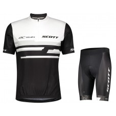 2021 SCOTT-RC Team 2.0 White-Black Cycling Jersey And Shorts Kit