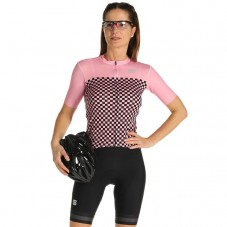 2021 Sportful Checkmate Pink Women Cycling Jersey And Shorts Kit