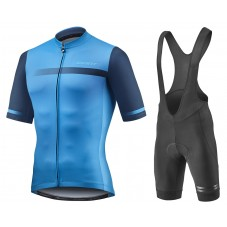 2021 Giant Team Blue Cycling Jersey And Bib Shorts Kit