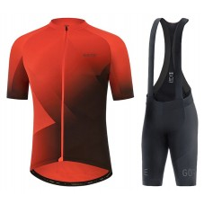 2021 Gore Fade Red Cycling Jersey And Bib Shorts Kit