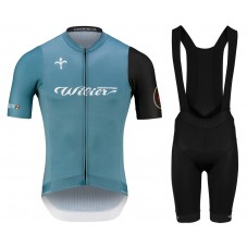 2021 Wilier Club Blue Cycling Jersey And Bib Shorts Kit