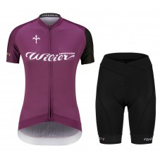 2021 Wilier Club Purple Women Cycling Jersey And Shorts Kit