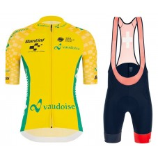 2021 TOUR DE SUISSE Best General Leader Yellow Cycling Jersey And Bib Shorts Kit