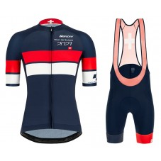 2021 TOUR DE SUISSE Team Grey-Blue-Red Cycling Jersey And Bib Shorts Kit