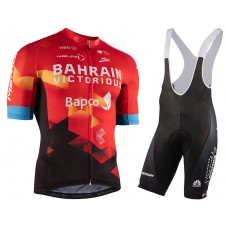 2021 Bahrain Victorious Red Cycling Jersey And Bib Shorts Kit