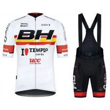 2021 Team BH Templo Cafes UCC White Cycling Jersey And Bib Shorts Kit