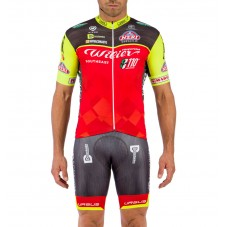 2016 Team Wilier Southeast Red-Fluo Cycling Jersey And Bib Shorts Set