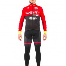 2017 Wilier Pro Team Red-Black Long Sleeve Cycling Jersey And Bib Pants Set
