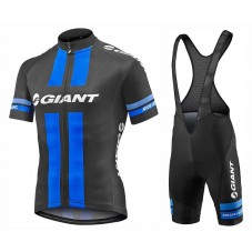 2017 Team Giant Black-Blue Cycling Jersey And Bib Shorts Set