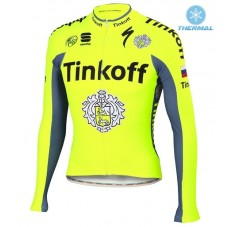 2016 Tinkoff Race Team Thermal Long Sleeve Cycling Jersey