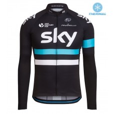2016 Team Sky Pro Black Thermal Long Sleeve Cycling Jersey