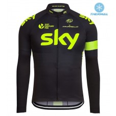 2016 Sky Team Fluo Edition Thermal Long Sleeve Cycling Jersey