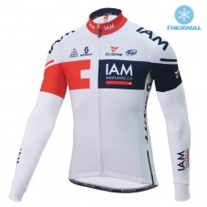 2016 Team IAM White Thermal Long Sleeve Cycling Jersey