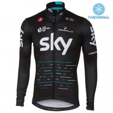 2017 Team SKY Black Thermal Long Sleeve Cycling Jersey