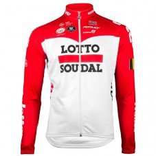 2018 Lotto Soudal Red Long Sleeve Cycling Jersey