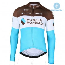 2018 AG2R Team Thermal Long Sleeve Cycling Jersey