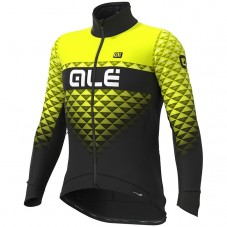 2019 ALE Summit Black-Yellow Long Sleeve Cycling Jersey
