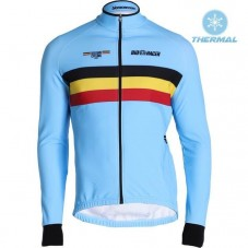 2019 Belgium Country Team Thermal Long Sleeve Cycling Jersey