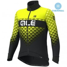 2019 ALE Summit Black-Yellow Thermal Long Sleeve Cycling Jersey
