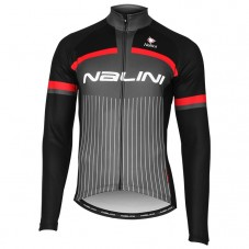 2020 Nalini Thebe Black-Red Long Sleeve Cycling Jersey