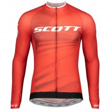 2020 Scott RC Pro Red Long Sleeve Cycling Jersey