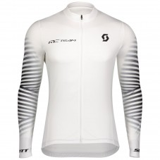 2020 Scott RC Team 1.0 White Long Sleeve Cycling Jersey