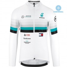 2020 Asos FF1 RS Benz White Thermal Long Sleeve Cycling Jersey