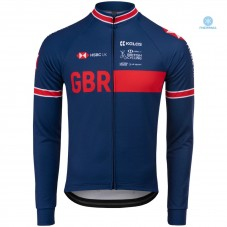 2020 Kalas GBR Country Team Blue Thermal Long Sleeve Cycling Jersey
