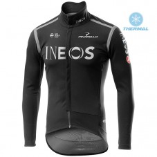 2020 INEOS Black  Thermal Long Sleeve Cycling Jersey