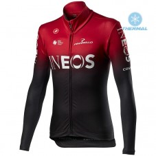 2020 INEOS Team Red Thermal Long Sleeve Cycling Jersey