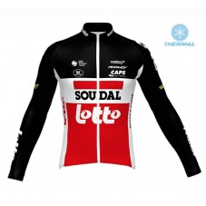 2020 Lotto Soudal Red Thermal Long Sleeve Cycling Jersey