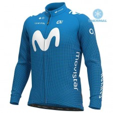 2020 MOVISTAR Team Thermal Long Sleeve Cycling Jersey