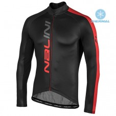 2020 Nalini LW Black-Red Thermal Long Sleeve Cycling Jersey