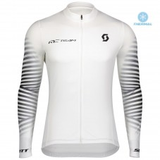 2020 Scott RC Team 1.0 White Thermal Long Sleeve Cycling Jersey