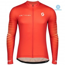 2020 Scott RC Team 1.0 Fiery Thermal Long Sleeve Cycling Jersey