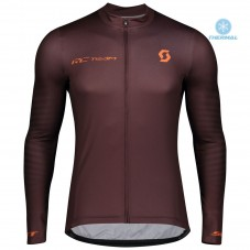 2020 Scott RC Team 1.0 Claret Thermal Long Sleeve Cycling Jersey