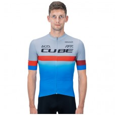 2020 Team Cube Pro Cycling Grey-Blue Cycling Jersey