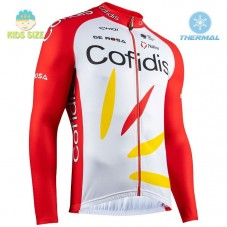 2020 Team Cofidis Pro Kids Thermal Long Sleeve Cycling Jersey